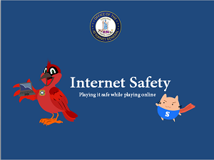 Picture of the Internet Safety Book with Speedy and Charlie on the cover.