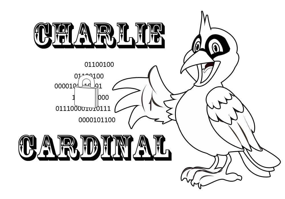 Picture Of Charlie Cardinal And A Blue Crayon With The Words Charlie  Cardinal Coloring Page ...