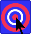 Tips - Picture of a bullseye with a mouse pointer pointing at the bullseye guiding you to the place you need to be.