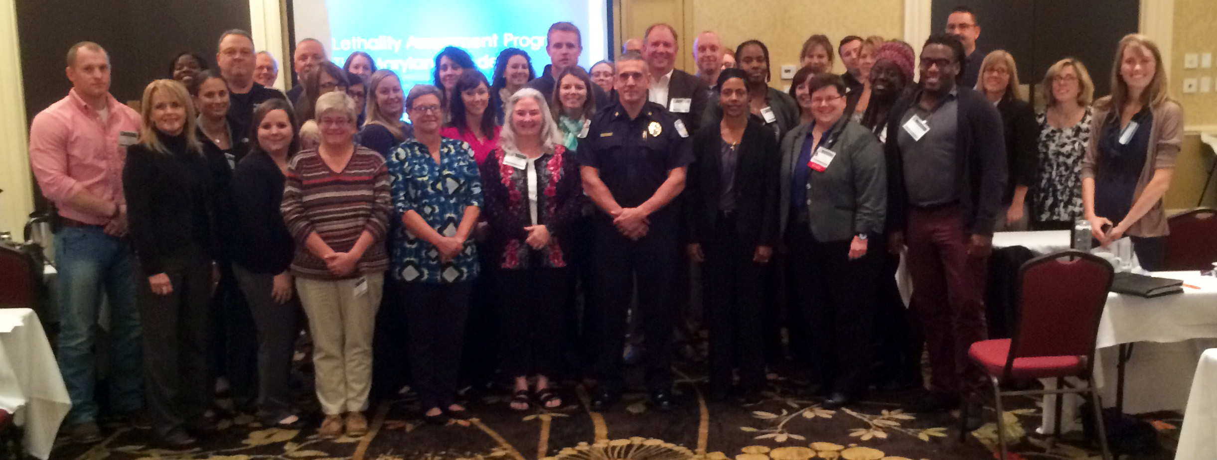 Group photo from the Lethality Assessment Program training