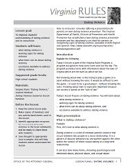 Screenshot of the dating violence lesson plan