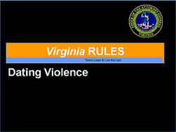Virginia Rules Dating Violence PowerPoint Lesson