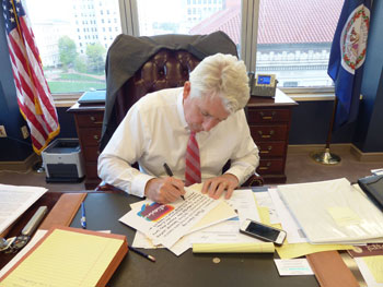 Start by Believing Campaign - Attorney General Mark Herring writing what he believes for the campaign.