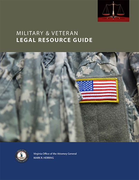 picture of the cover of the Virginia Military & Veterans Legal Guide cover